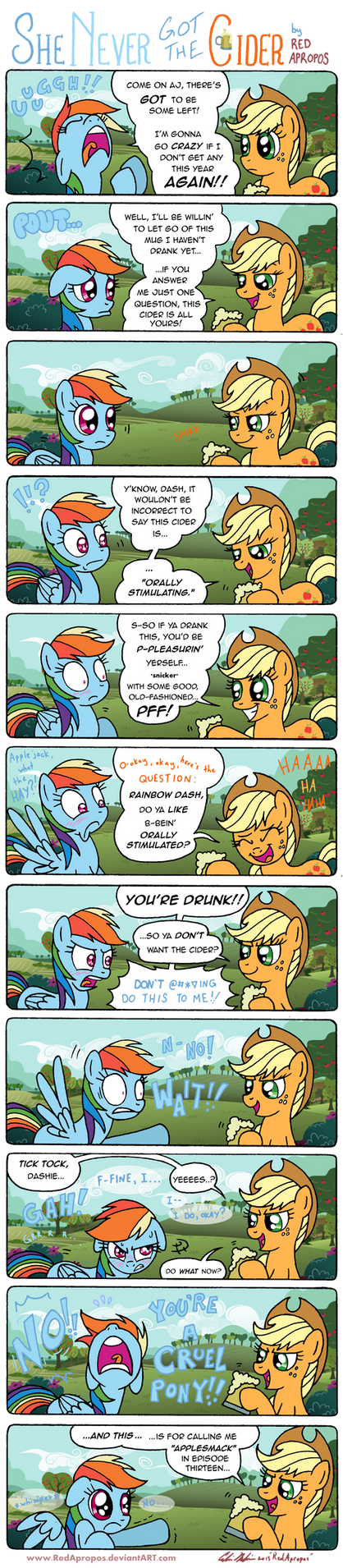 She Never Got the Cider by RedApropos