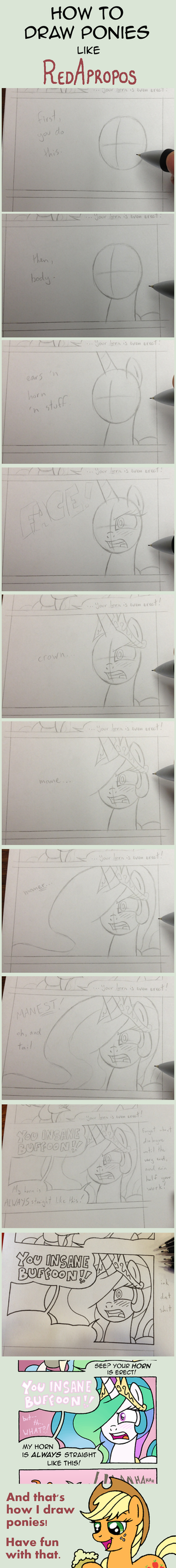 How RedApropos Draws Ponies by RedApropos