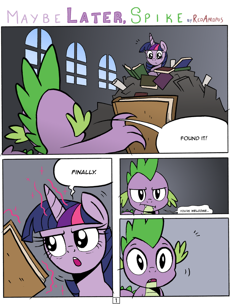 Maybe Later, Spike - 1 by RedApropos