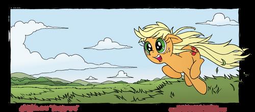 Applejack Loves to Run
