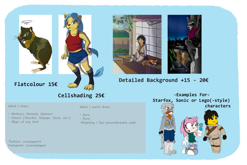 Commission prices [UPDATED]