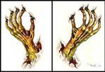 Zombie hands - tattoo design