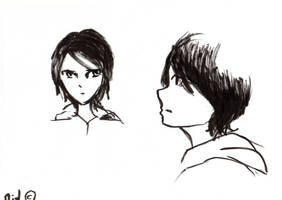 Ellie -Original Character Sketch by MidLangley