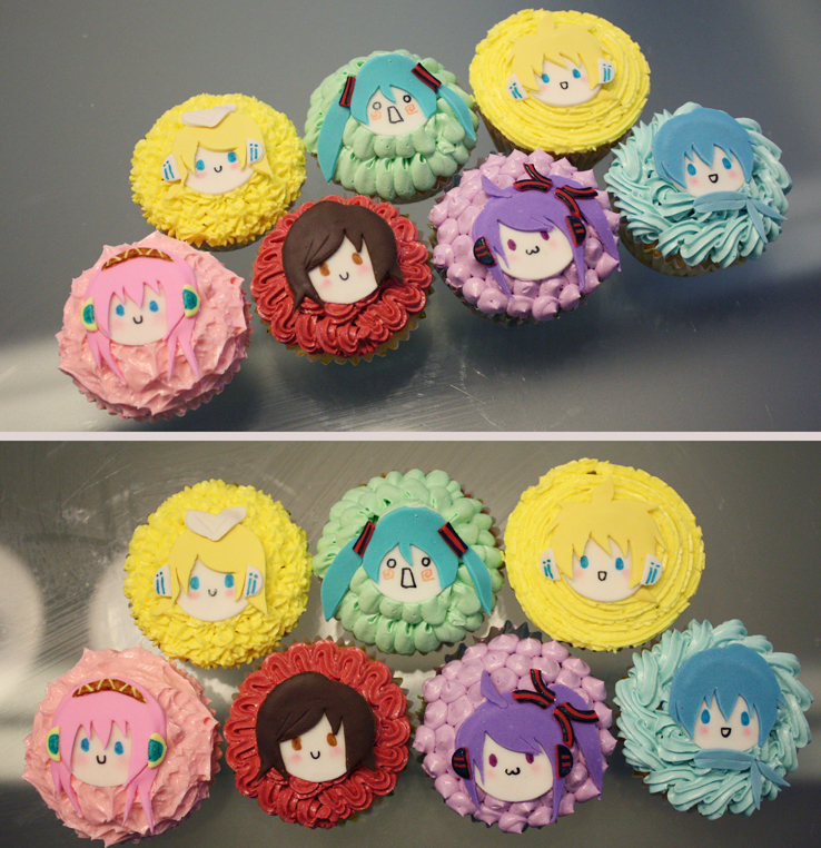 Vocaloid Cupcakes by KralleCakes