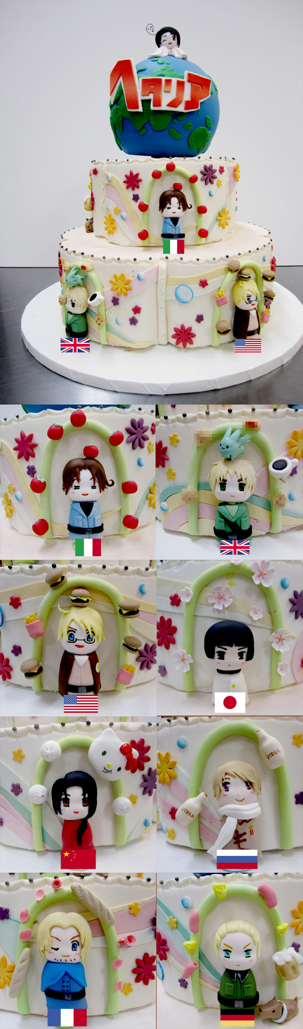 Hetalia Cake by KralleCakes