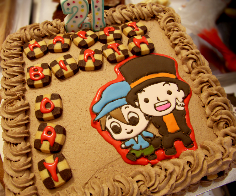 Professor Layton Cake by KralleCakes