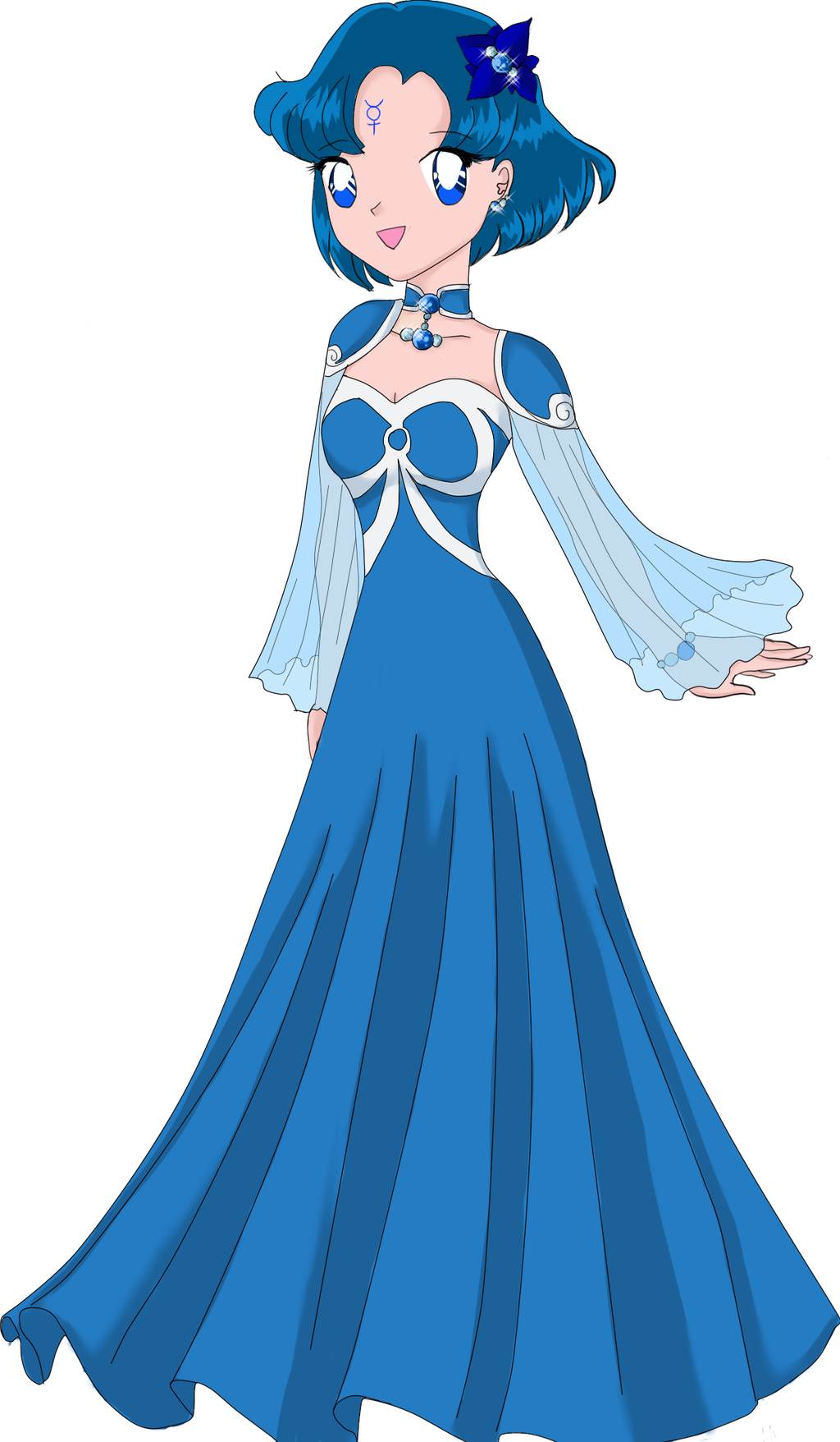 Princess Mercury By Limetiger711 On Deviantart How To Draw A Disney Princess Dress Free Coloring Sheets