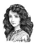 Maude Fealy ink portrait by Kira6311