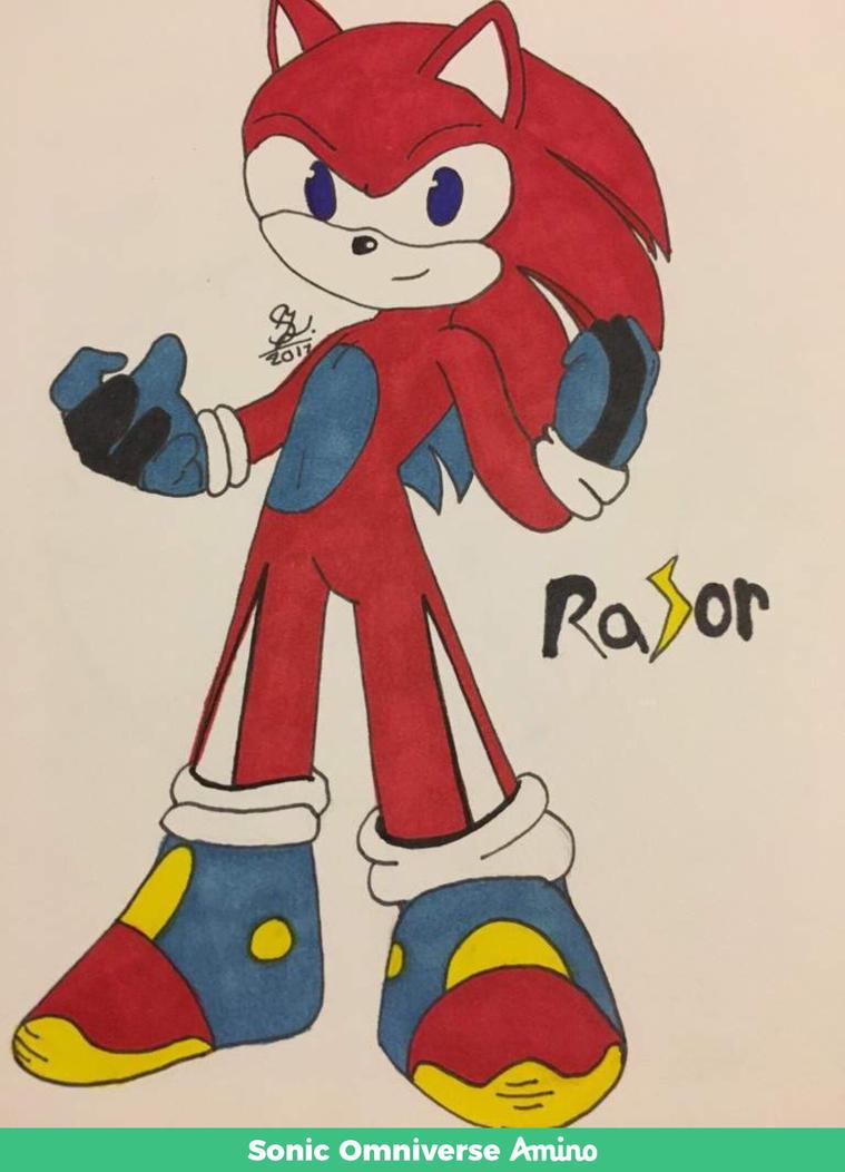 My oc sonic character  by flameking0142