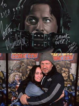 Costas Mandylor and I + signed drawing
