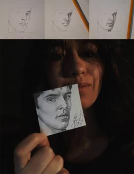 Mini Merlin / Colin Morgan drawing