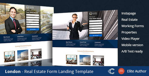 Themeforest London Instapage Landing Page by coralixthemes