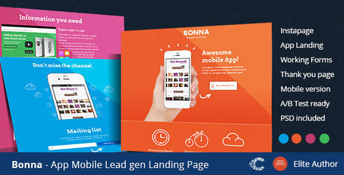 Themeforest Bonna Instapage Landing Page by coralixthemes
