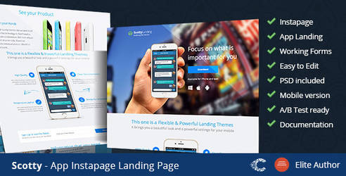 Themeforest Scotty Instapage Landing Page by coralixthemes