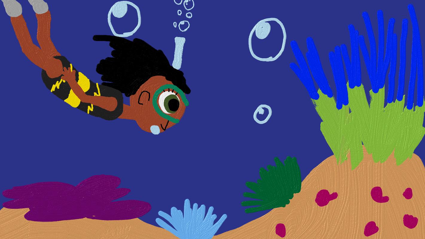 Malina the Scuba Diver by WonderWill7134