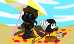 A Prideful Beach Day by WonderWill7134