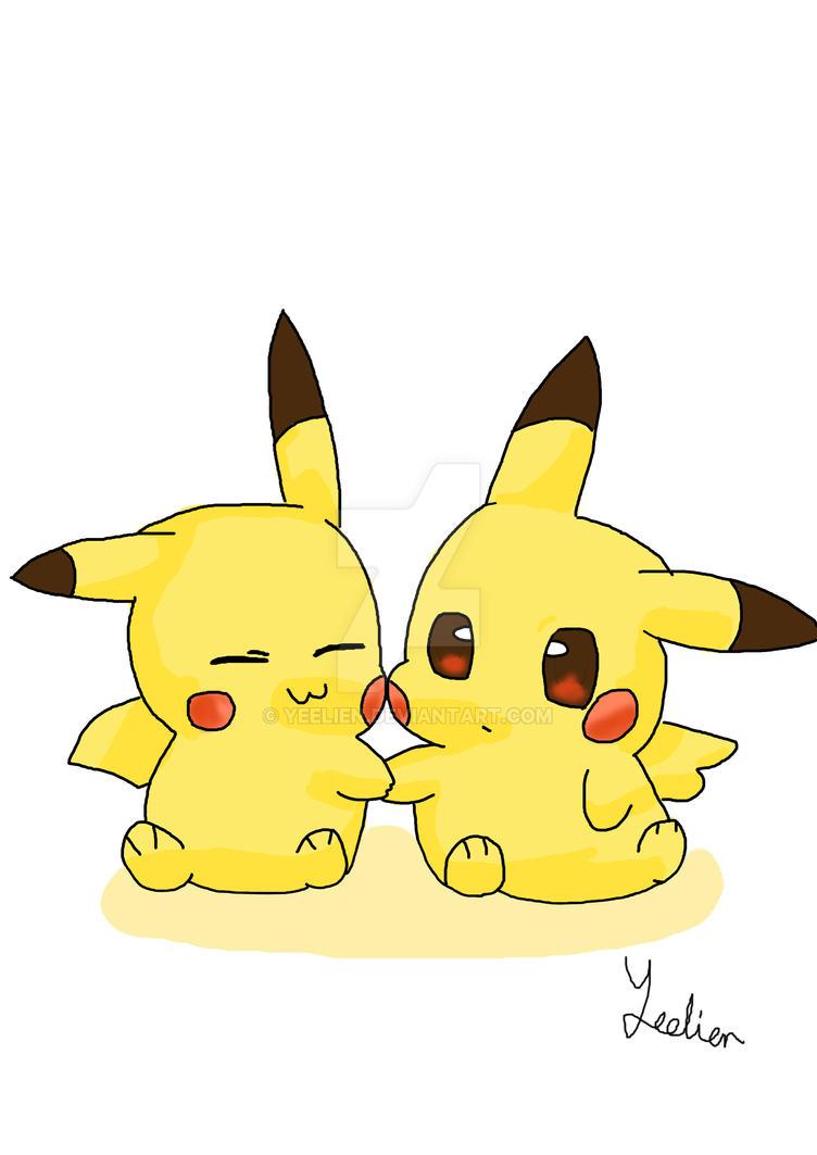 Pikachus by YeeLien