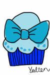 Blue cupcake yummy