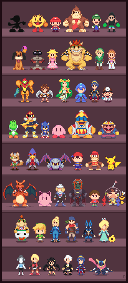 Super Low-res Brothers by Davitsu