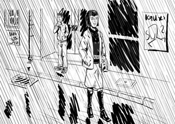 Leaving in the rain