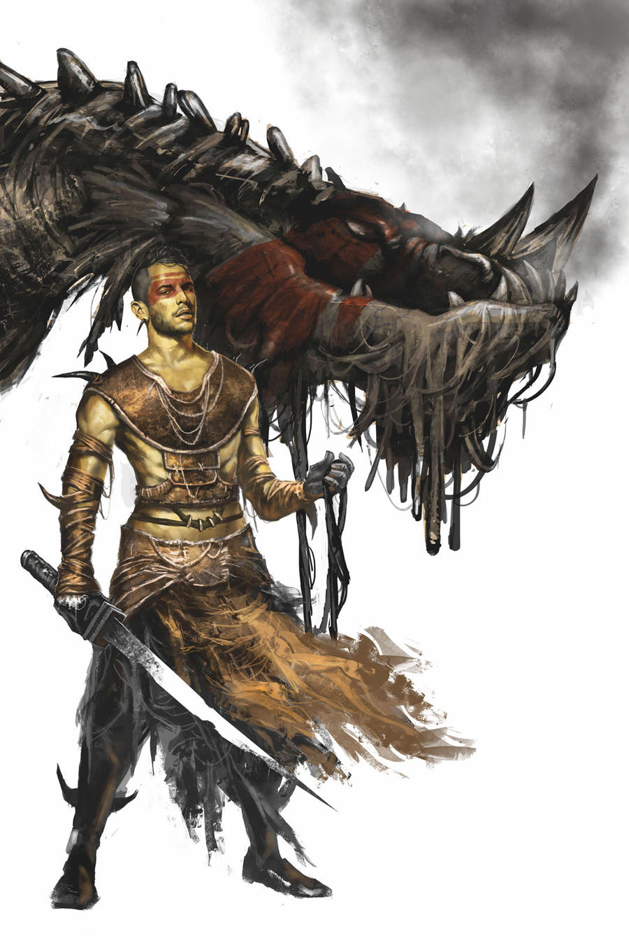 Dragon rider by Trishkell