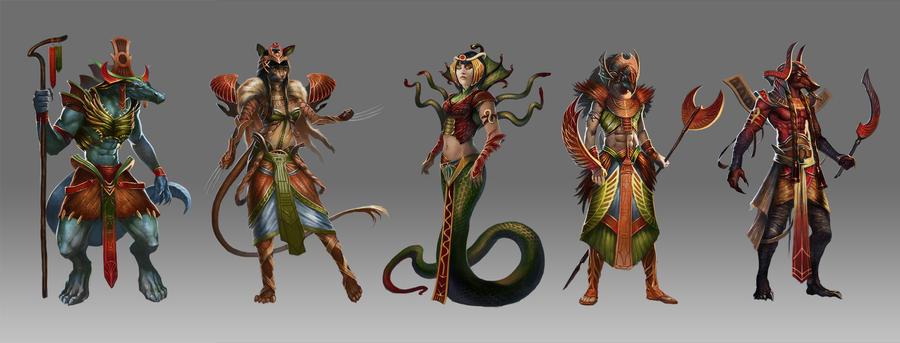 Kemet Characters by Trishkell