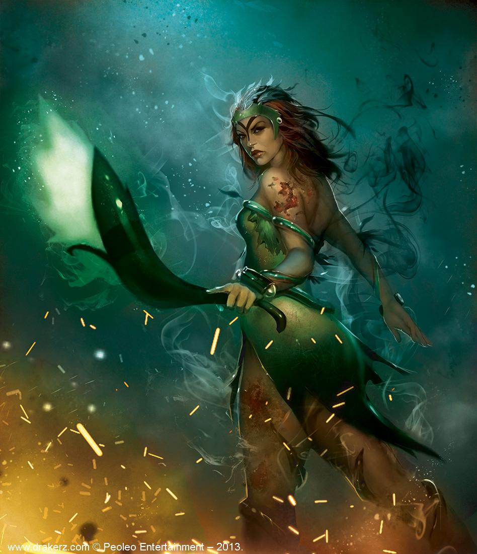 female Meleon by Trishkell