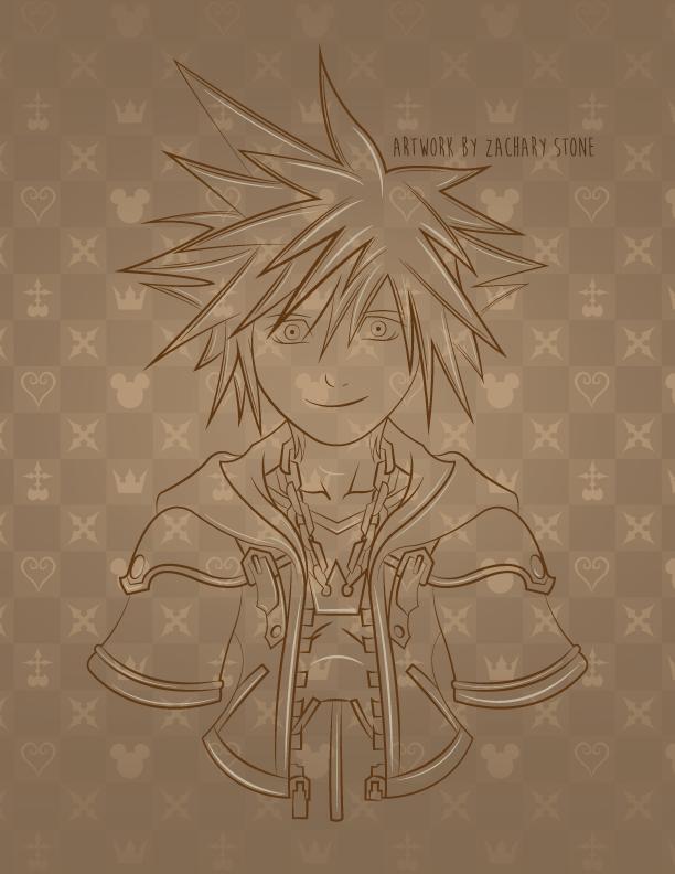 Kingdom Hearts Fan Art - Zachary Stone by Biggaplaya