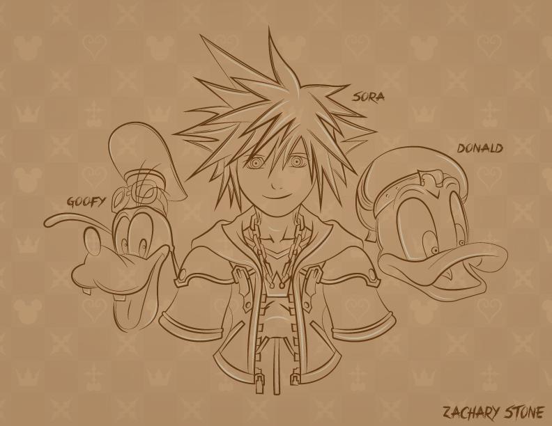 Kingdom Hearts Sora Donald and Goofy Wallpaper by Biggaplaya