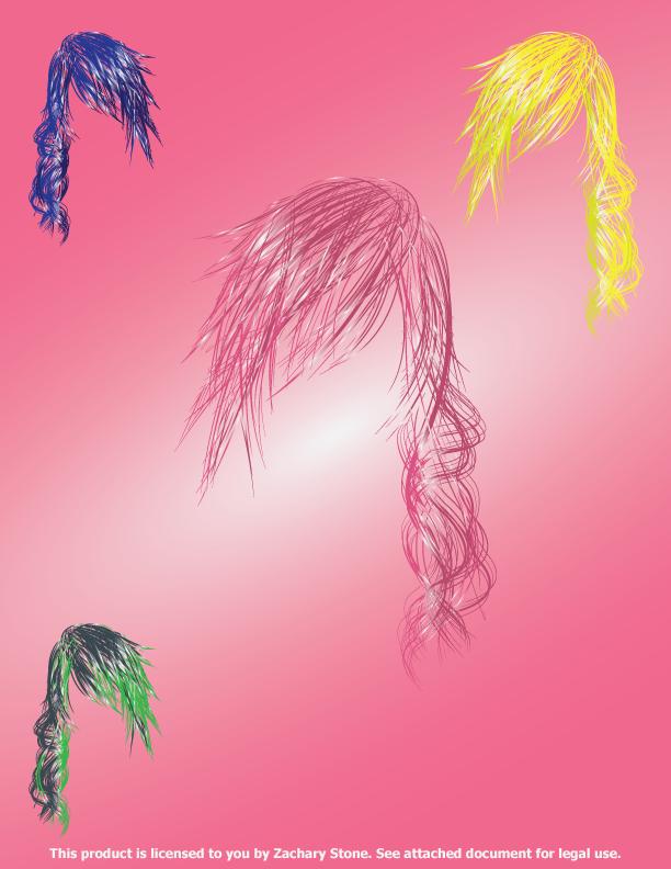 Fantasy Inspired Hairstyle Vectors by Biggaplaya