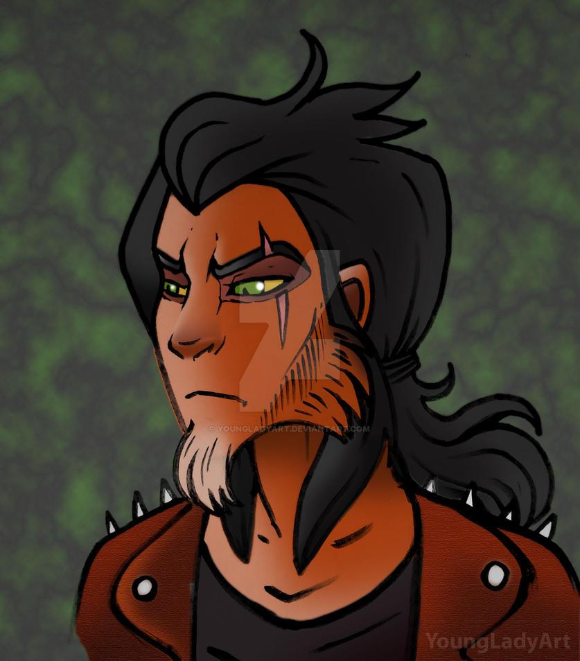 Scar- human version by YoungLadyArt
