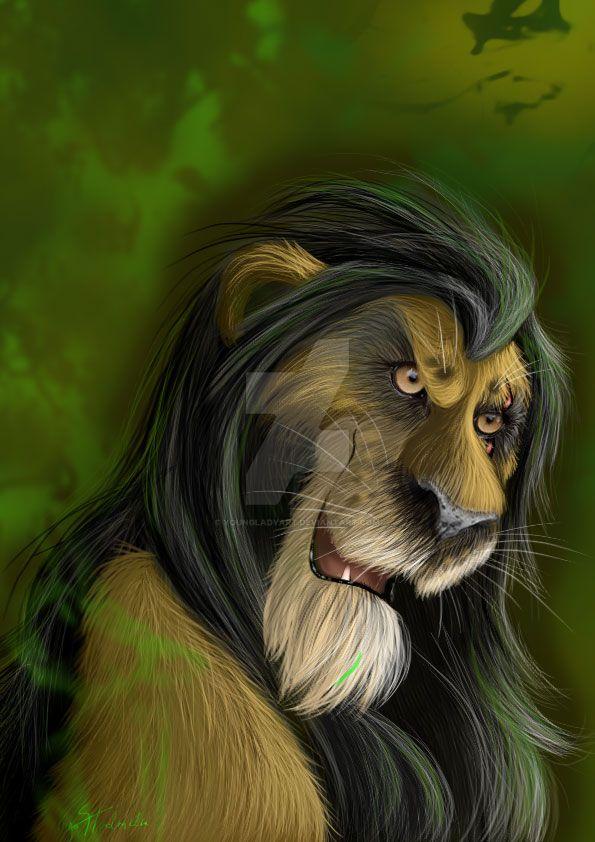Scar- (fur version)Lion King by YoungLadyArt