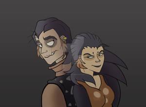 Reirei and Goigoi-Lion Guard (human version)