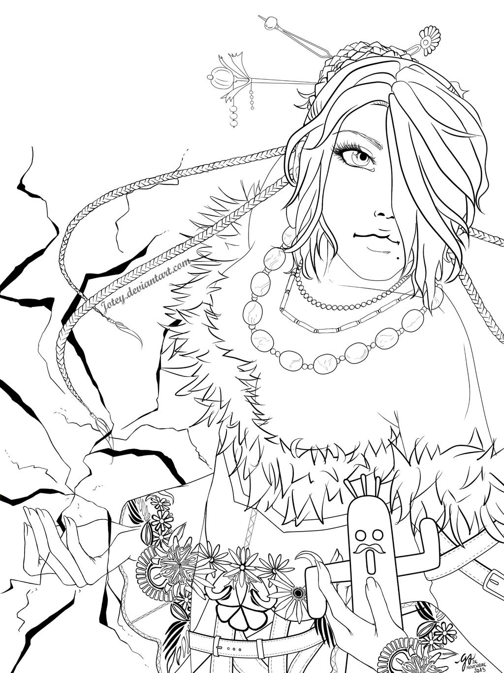 Final Fantasy Free Coloring Pages