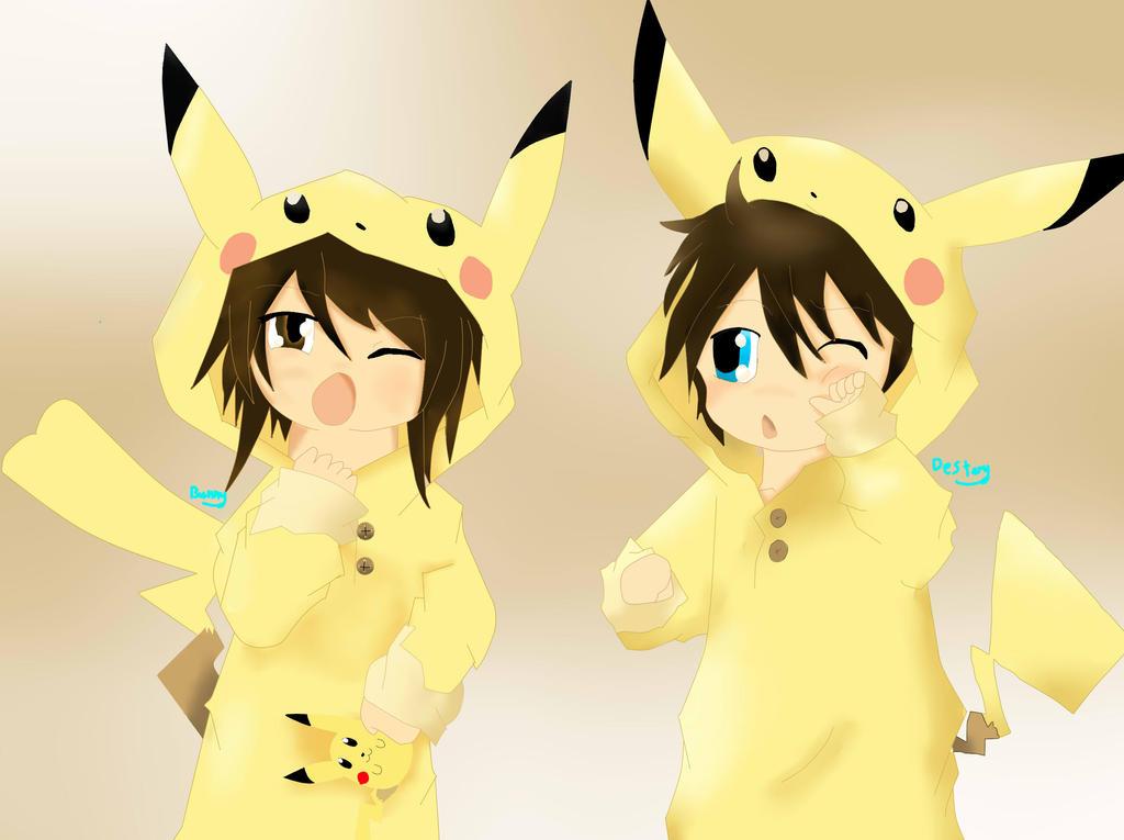 cute pikachu couple pokemon - photo #13