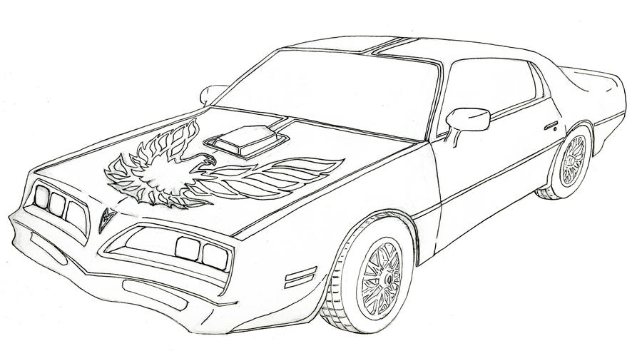 Pontiac Trans Am Free Colouring Pages
