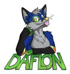 Daflon fox badge by danwolf15