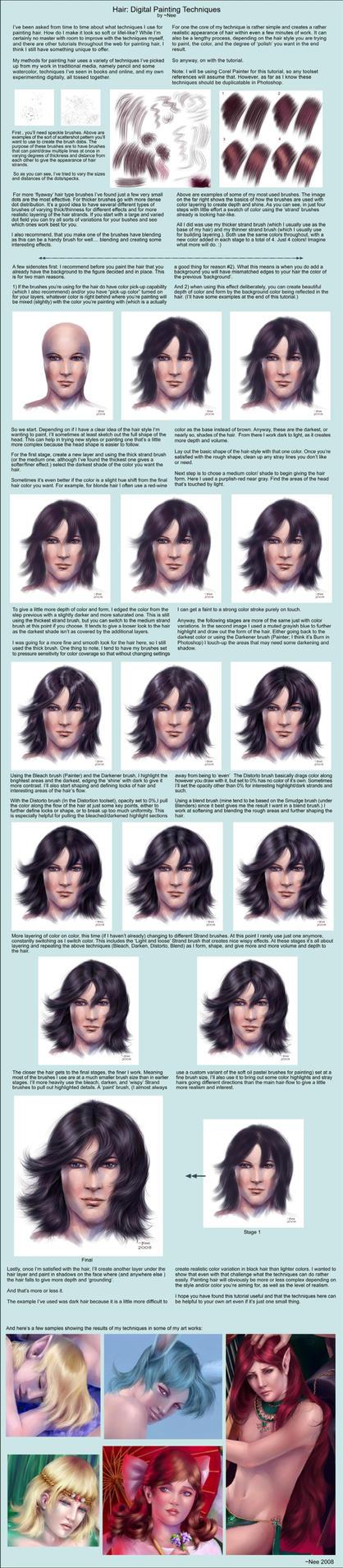 Tutorial: Painting Hair by Neemeister
