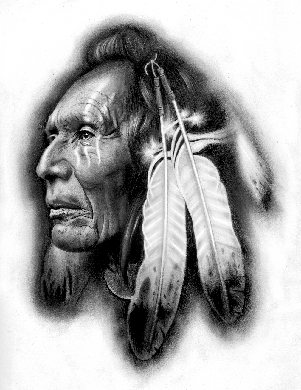 Native american warrior by badfish1111 on deviantart for American indian tattoo designs