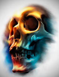 Color Skull by badfish1111