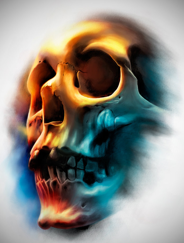 Color skull by badfish1111 on deviantart for Color skull tattoos
