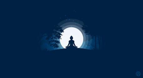 Moonlight Meditation by phildistress