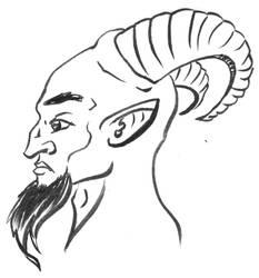 Satyr Head Design by TW2Creations
