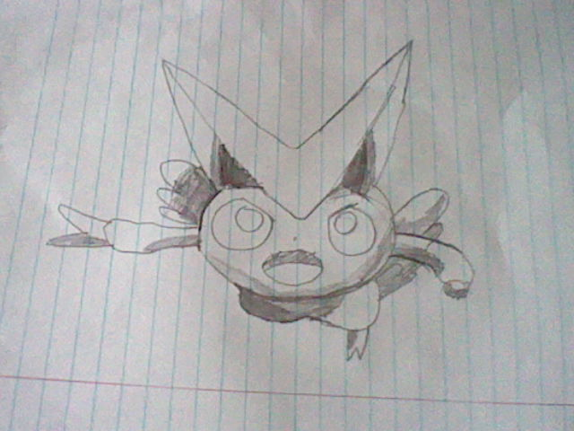 My epic 3D shading of Victini by Pikafan09