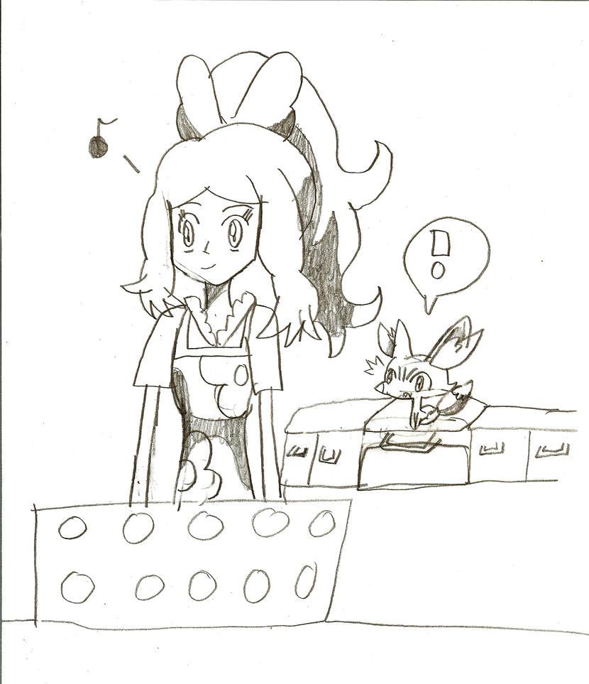 Serena baking cookies secretly for Ash by Pikafan09 on DeviantArt