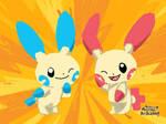 Pokemon Art Academy- Plusle, and Minun