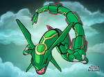 Pokemon Art Academy- Rayquaza