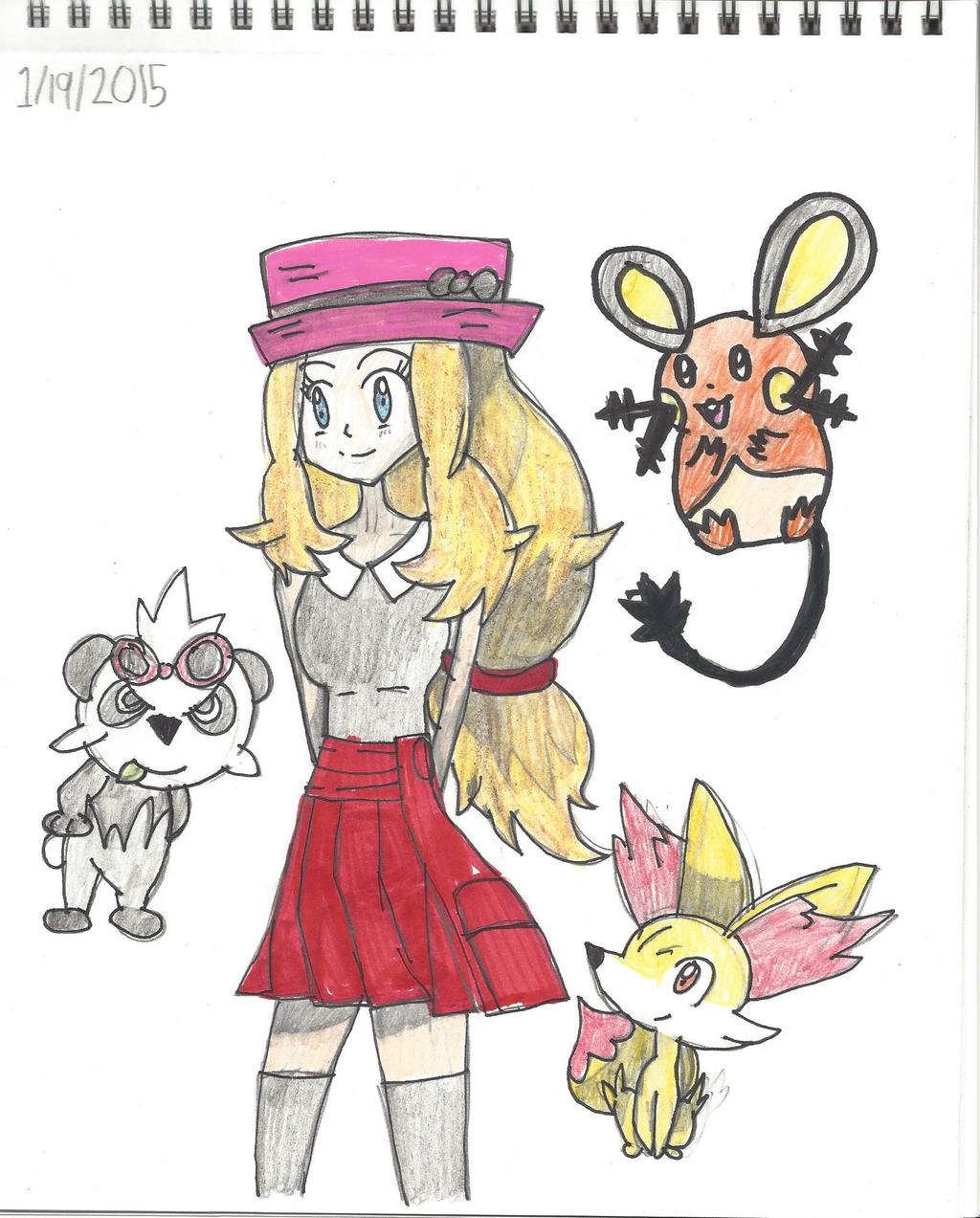 Serena and her Pokemon...