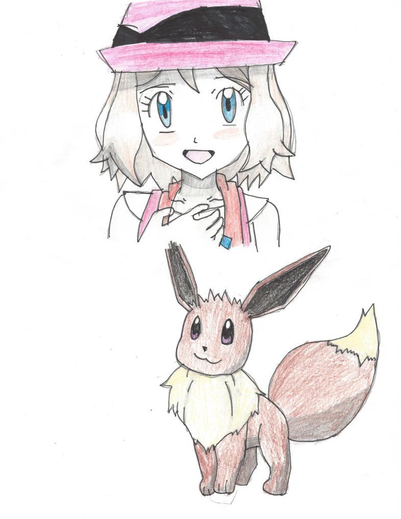 Serena and Eevee by Pikafan09