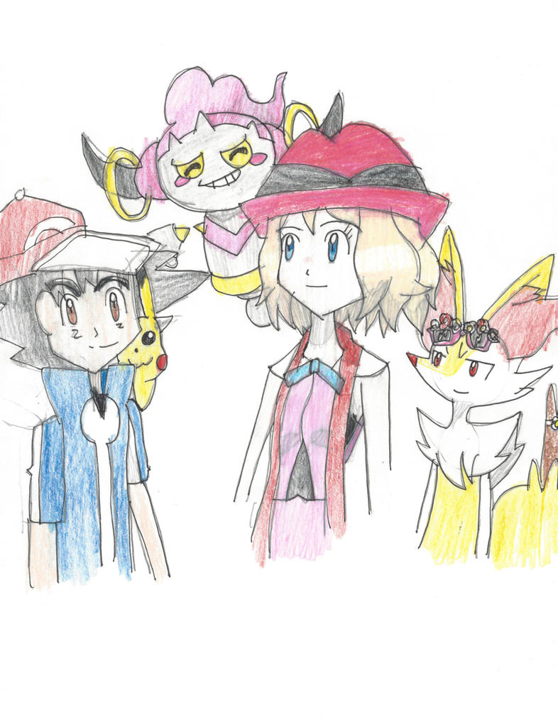 Amour- With Hoopa by Pikafan09